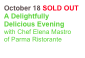 October 18 SOLD OUT